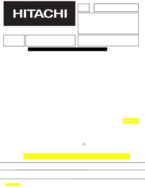 Hitachi 42hdt20 Service Manual Immediate Download