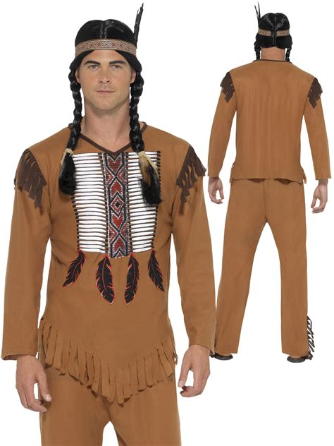 american themed clothing uk mens native american warrior red indian costume adult