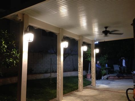 Patio Cover Lights Recessed Lighting In Patio Cover Light Patio Covers