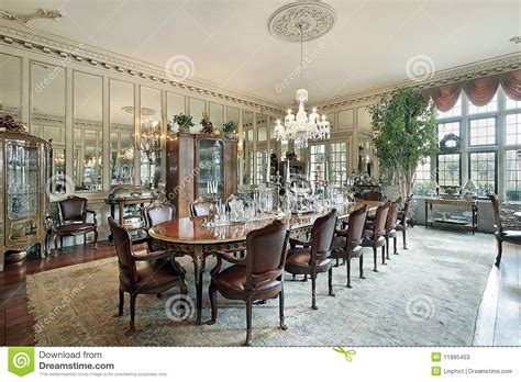 dining room wall mounted mirror traditional dining formal dining room with wall mirrors stock photos image