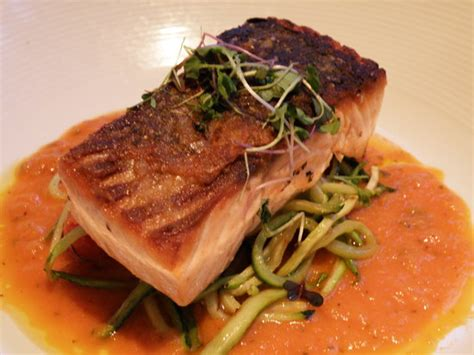 dinner salmon salmon dinner picture of brasserie 1605 at the crowne