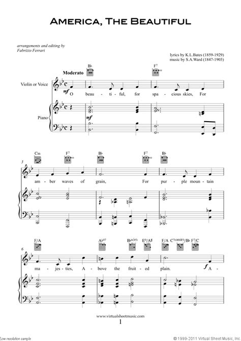 new year song for violin patriotic sheet and songs for violin or voice and