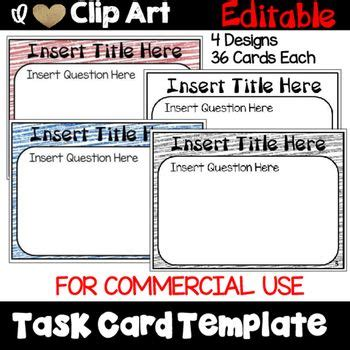 lynette task card template 94 best images about templates clip on