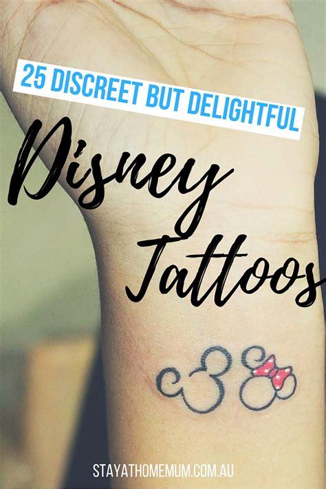 discreet tattoo locations 25 discreet but delightful disney tattoos