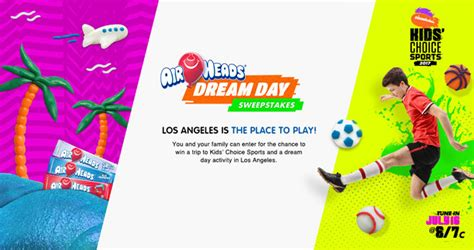 Nickelodeon Giveaway - win a trip to the nickelodeon kids choice sports in los angeles ca