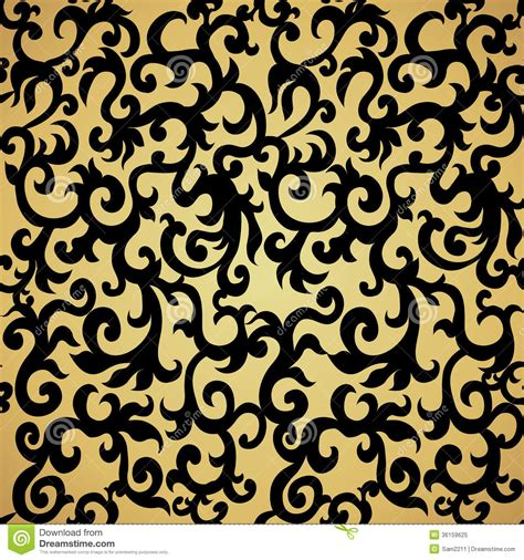 wallpaper pattern gold black seamless pattern background damask wallpaper stock vector
