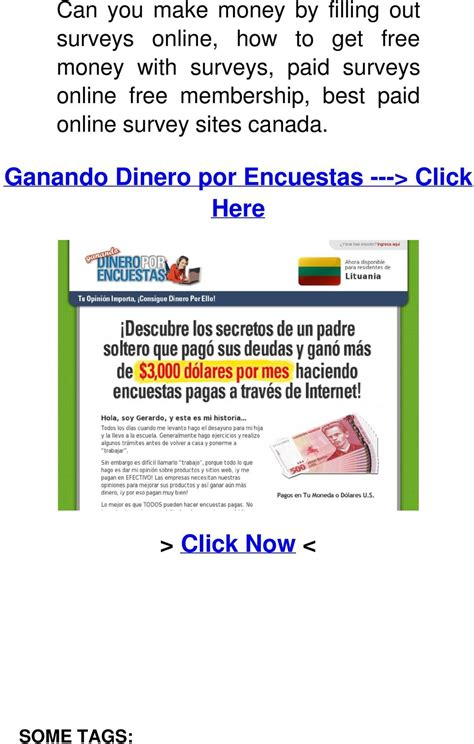 Fill Out Surveys For Money Canada - ganando dinero por encuestas gt click here pdf