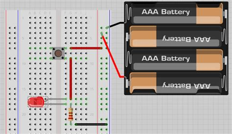 circuit breadboard tutorial how to use a breadboard and build a led circuit