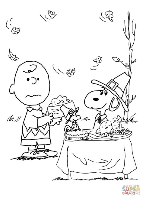 printable peanuts thanksgiving coloring pages charlie brown thanksgiving coloring page free printable