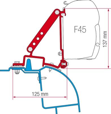 f45 awning fiamma f45 awning adapter kit renault master h2