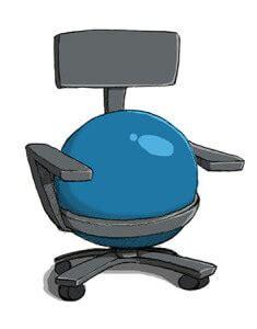 gymnastikball mit gestell ballstuhl