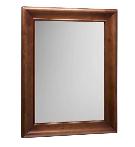 cherry framed mirrors for bathrooms ronbow 607030 f11 traditional 29 quot x 37 quot solid wood framed
