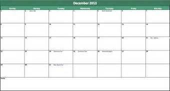 Excel Calendar Templates Free by 2013 Calendar Excel Excel Templates