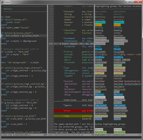 color themes vim github jonathanfilip vim lucius lucius color scheme for vim