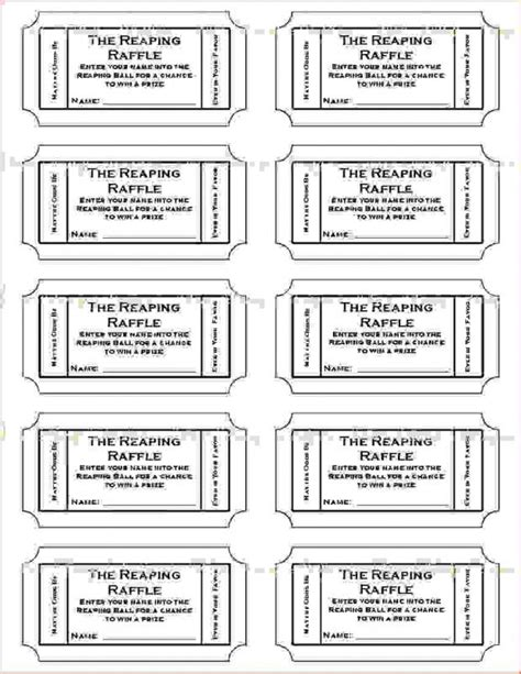 Ticket Layout Template Free