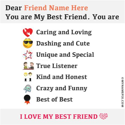for best friend beautiful note for best friend with name