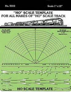 model railroad track templates template only ho scale ctt5000 ctt model railroad