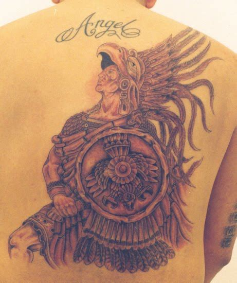 aztec gods tattoos disasters aztec tattoos