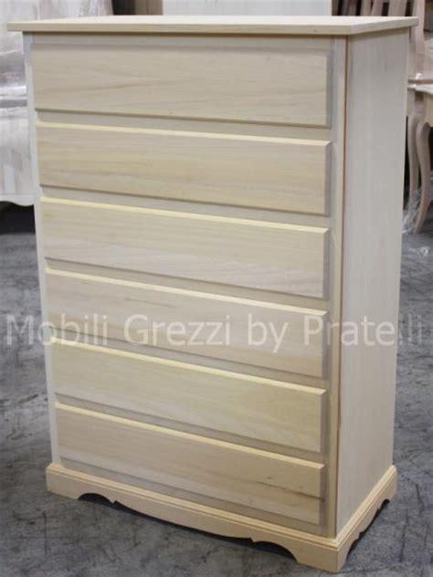 piccole cassettiere in legno cassettiere grezze cassettiera grezza matilde