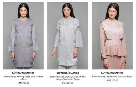 5 jenama baju raya paling mahal harga lebih rm4 000