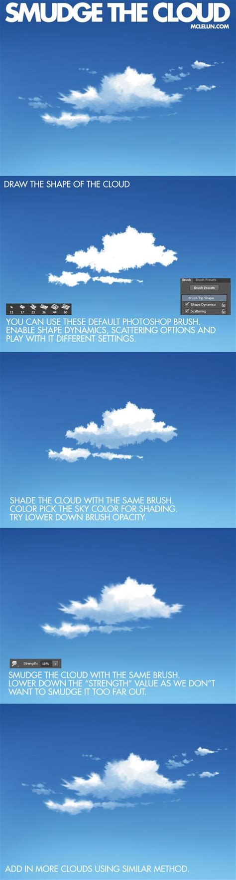 tutorial smudge digital smudge the cloud by mclelun deviantart com on deviantart
