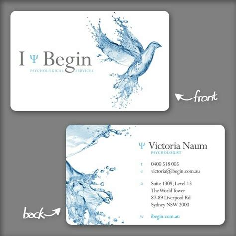 Business Card Templates For Psychologists by Creative Business Cards Psychologists Gallery Card