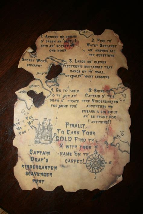 Custom Pirate Maps At Never Forgotten Designs Great For Birthday Parties And More Pinterest Pirate Treasure Map Invitation Template