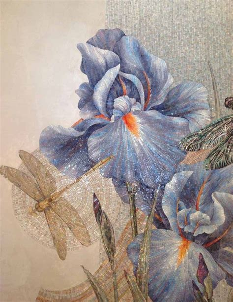 mosaic iris 1411 best images about mosaic flowers trees on pinterest