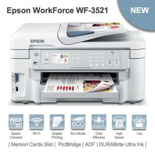 Printer Epson Multifungsi epson workforce wf 3521 printer multifungsi dengan fitur