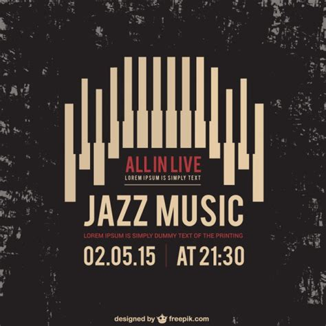 printable music poster jazz music poster vector premium download