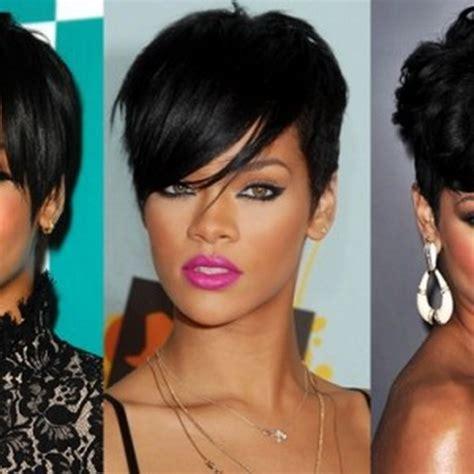 rihanna short hairstyles front and back rihanna hairstyles 2014
