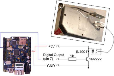 Garage Door Opener Voltage Build A Web Enabled Arduino Garage Door Opener Megunolink