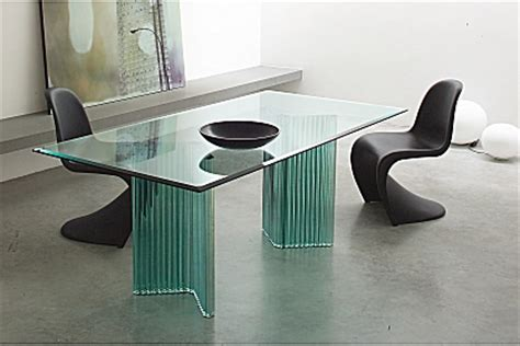 modern glass furniture modern glass dining tables from gallotti radice