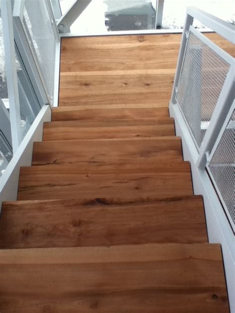 Stair Treads Wood Flooring by Solid Wood Stairs Live Edge Stair Treads Contemporary