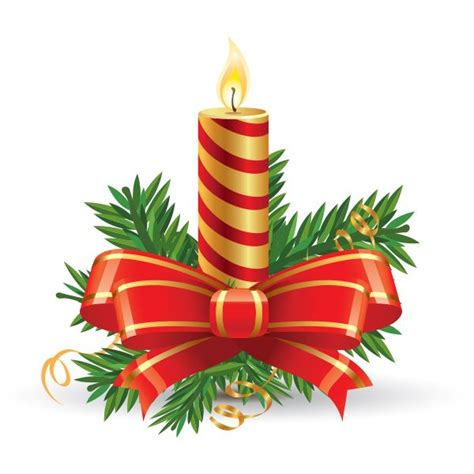 clip weihnachten candle cards and