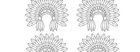 indian headdress template indian headdress template small