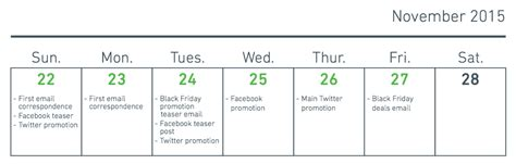 Black Friday Calendar 100 Black Friday Marketing Ideas That Will Make A Happy