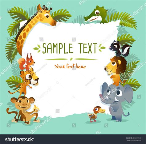 templates for zoo animals template poster zoo animals stock vector 318473549