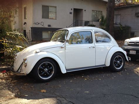 White Vw Beetle In Chico California 63 Ragtop Vw Bug