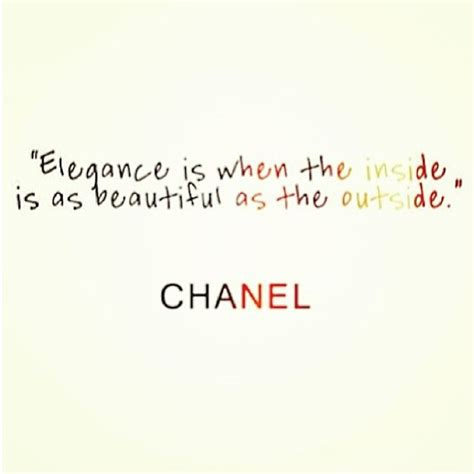 Beautiful Inside And Outside by Coco Chanel Quotes On Quotesgram