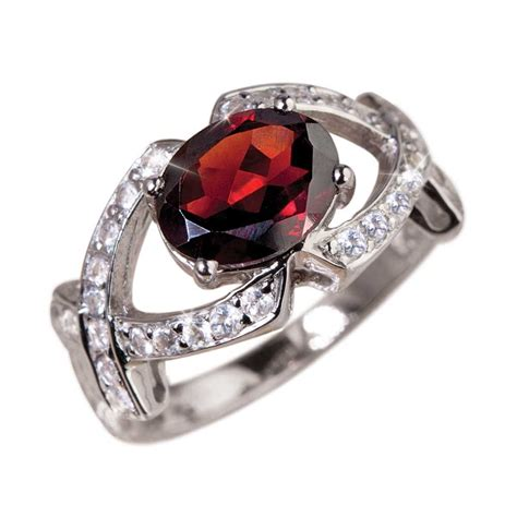 Garnet Ring by Garnet And Ring Images