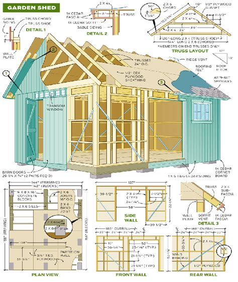 Backyard Shed Blueprints by The Diy Garden Shed Plan Shed Diy Plans