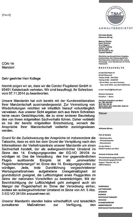 Beschwerdebrief Condor 600 Entsch 228 Digung Wird Mir Als 1 J 228 Hrigen Gutschein Gew 228 Hrt Kein Bares Geld Fluggastrechte