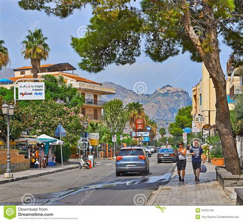 giardini naxos recanati via recanati editorial image image of summer