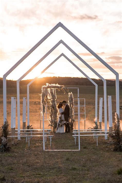 romantic country wedding inspiration   open air chapel