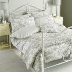 Grey Toile Duvet Cover Paoletti Canterbury Tales Toile De Jouy Pure Cotton Duvet