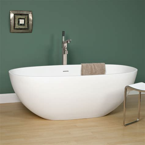 signature bathtubs signature hardware 65 quot allene resin freestanding tub ebay