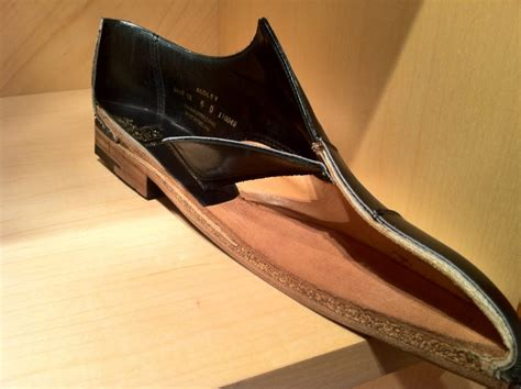 Handmade Shoes California - cross section of a c j shoe that thick cork layer