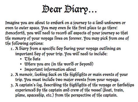 dear diary exploring explorers