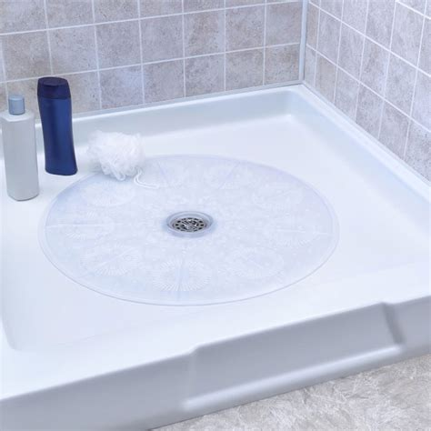 slippery bathtub solutions slip x round shower mat 23 quot clear 4 per case price per case